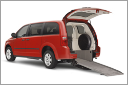 rear entry minivan for rent